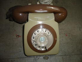VINTAGE RETRO GPO TELEPHONE ROTARY DIAL/ CONVERTED/LOVELY CONDITION