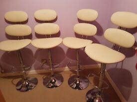 4 Premier Housewares Cream Dining Chair Bar Stools
