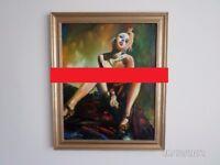 Sexy Lady - oil painting - K.Seński