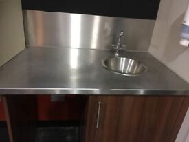 Full Coffee Shop Counters with Small Hand Sink