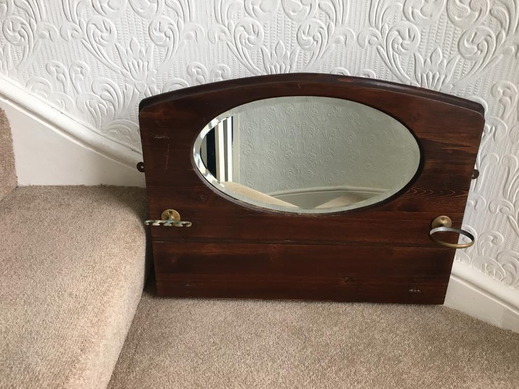 Antique bathroom mirror