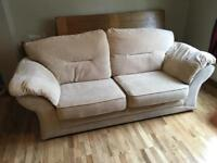 Three seater sofa and reclining chair