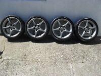 "VAUXHALL ASTRA H or ZAFIRA 18"" PENTA ALLOYS & NEW TYRES"
