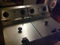 twin table top fryer