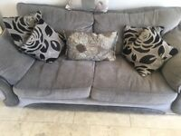 Sofa chair and 3 matching stools