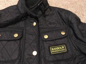 Girls Barbour jacket excellent condition 8-9