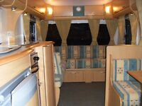 Lightweight Bailey Pageant Mossele 2005 4 Berth Caravan with Awning.