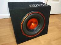 Eage active car subwoofer bass box built-in amplifier