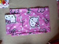 Single Hello kitty duvet cover and 1 pillowcase