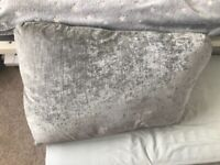 4 x hard back silver cushions for country living dfs sofa