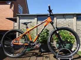 "2014 Orange Crush Hardtail Mountain Bike 17"" Medium Frame 27.5 wheel - 30 Speed"