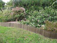 WOOD border edging/lawn edging fence 2,50 m x 20 cm