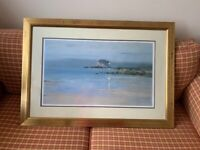 Framed picture of Ailsa Craig