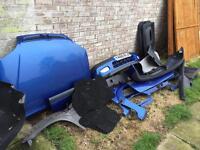 Citroen Saxo bumpers side skirts bonnet boot trim door cards vtr blue