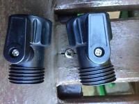 Garden hose pipe connectors