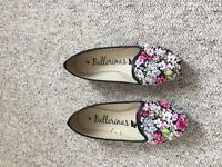 Bright flowery flats - size 6
