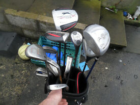 set of left hand golf clubs