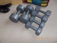 Dumbbells weights.