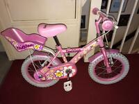 "Girls bike 14"" daisy"