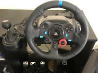 Logitech G29 driving force steering wheel (PS4)