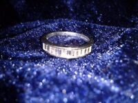 9ct white gold 0.50ct diamond eternity ring with valuation certificate.bargain price,engagement ring