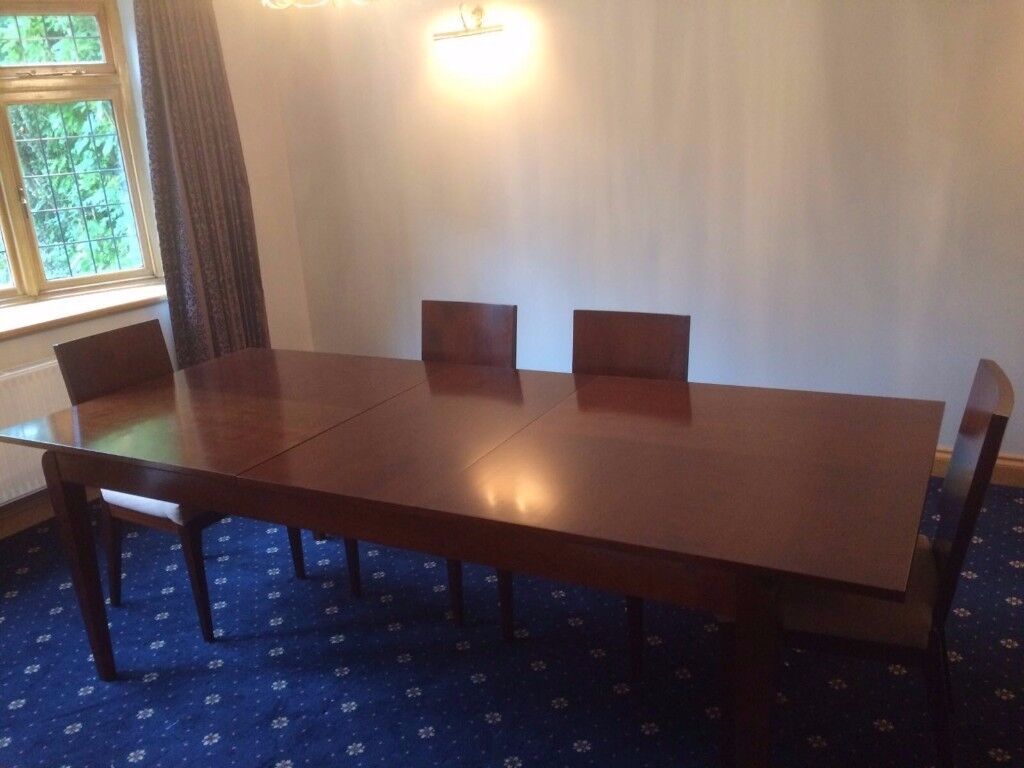 Grange Large Ext Table with 4 x Chairs, from the 'Art Deco Range'