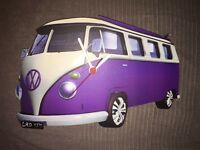VW camper van clock dub fan fully working clock