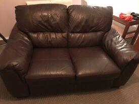 2 seat real leather sofa
