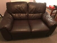 2 seat real leather sofa
