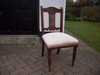 nice old chair sprung seat