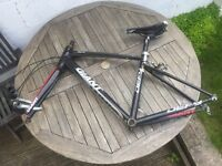 Giant Defy road bike frame with shifters/brakes 52cm