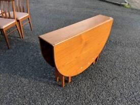 G plan retro teak drop leaf table