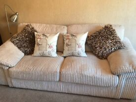 3 seater Cream Suite And Two single chairs
