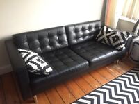 Ikea LANDSKRONA Leather Sofa, 1 year old great condition