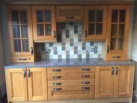 Kitchen cabinets, draw packs & worktop