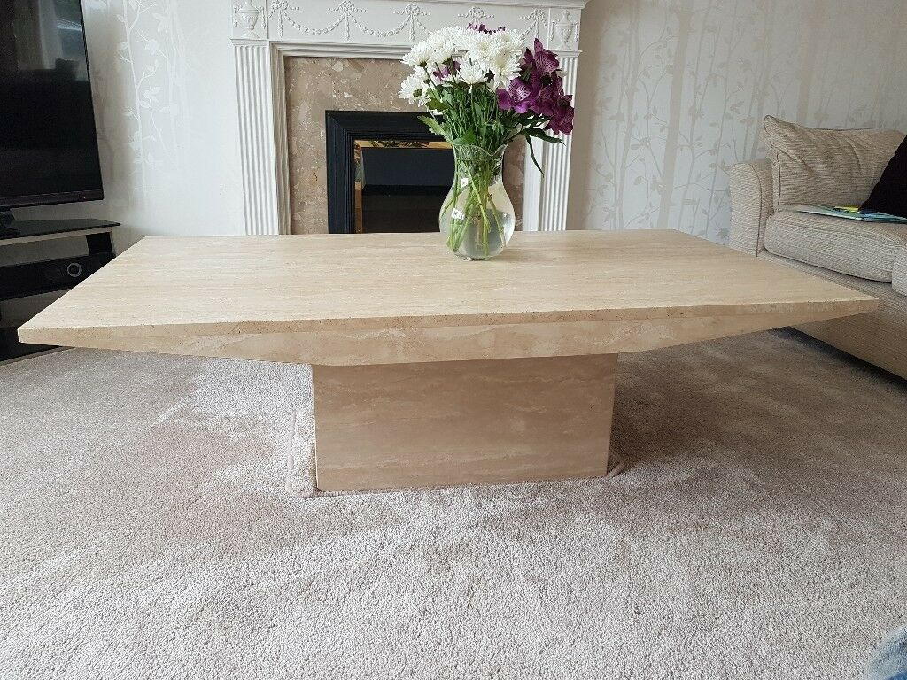 Cream Marble Coffee Table From Mia Stanza In Nantwich Crewe