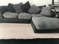 Black n Grey material sofa QUICK SALE