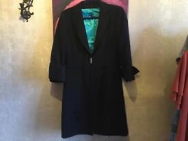 Dorothy Perkins ladies long jacket black size 12 used ex condition £5