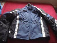 Men's Frank Thomas Aquapore Textile Motorbike Jacket - Size XL - Never used/As New