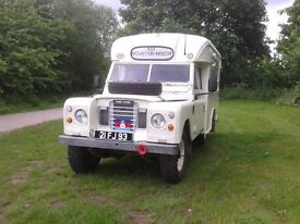 Land rover 109, Ambulance, ex military, Camper, Tax exempt 1971, 200 tdi, good condition