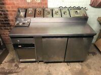 Donner Machine; Pizza topping fridge; Bain Marie; Pizza pans