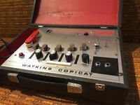 Watkins wem copycat tape delay pedal with foot switch