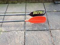 Two kayak paddles Gorillas and Lendal