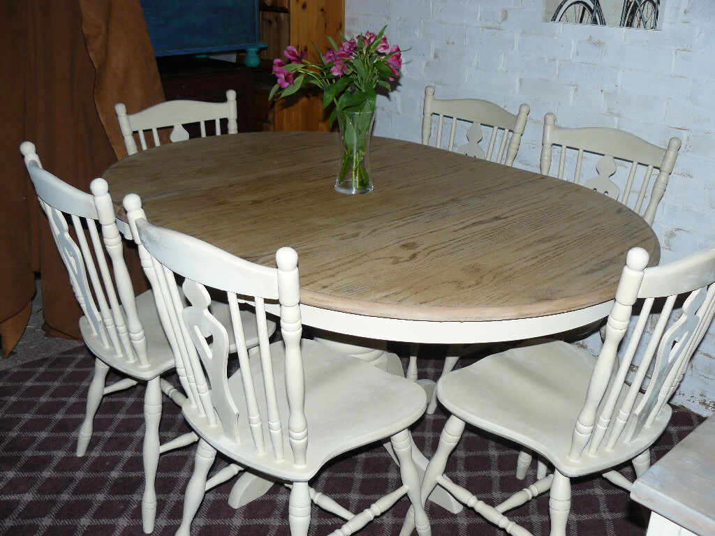 beautiful solid roundoval extendable shabbychic dining