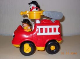 Fisher Price Little People Fire Engine with sounds and includes fireman and dog