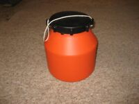 Large plastic storage container useful on canoes/dinghies