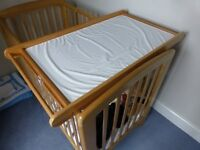 Cot Top Changer with Changing Mat and separate changing mat, good clean condition.