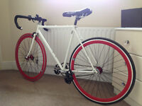 Custom build - Fixed gear road bike - very light - reynolds 531 - fixie