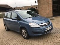 2008 VAUXHALL ZAFIRA AUTOMATIC PETROL EXCLUSIV MPV CHEAP CAR 7 SEATER FAMILY CAR NO VERSO SCENIC