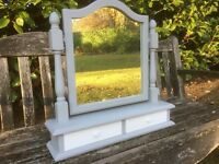 Hand Painted Pine Dressing Table Mirror
